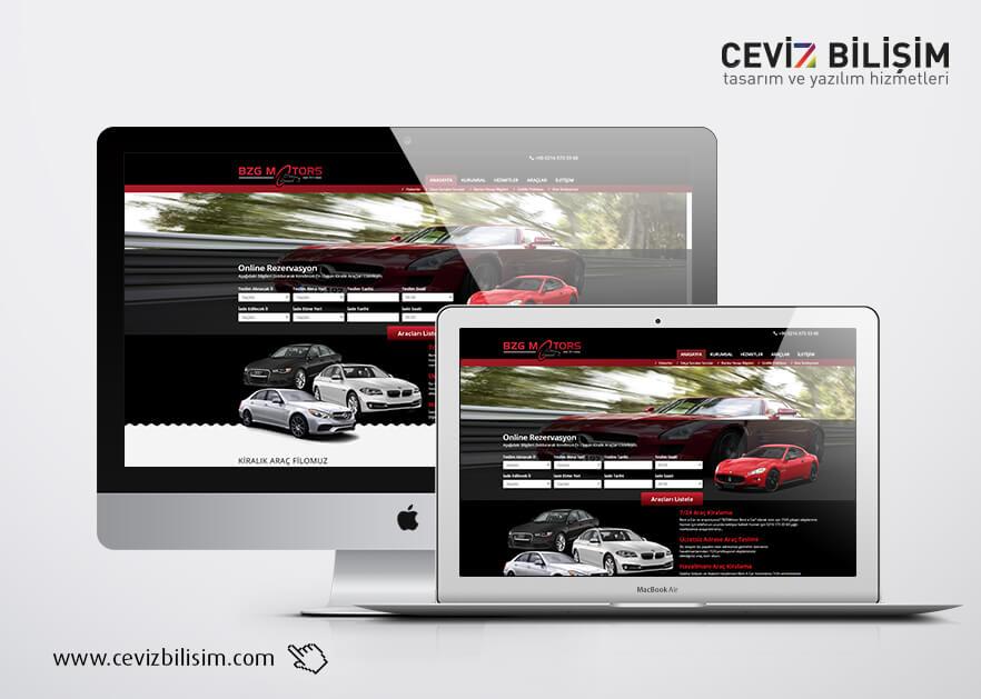 BZG Motors Kurumsal Web Tasarımı