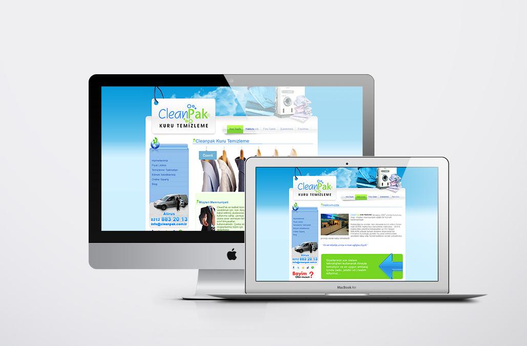 Cleanpak Kurumsal Web Yazılımı
