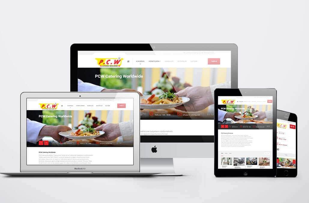 PCW Catering Web Sitesi Yazılımı