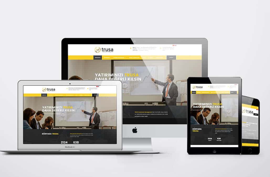 TRUSA Investment Kurumsal Web Yazılımı
