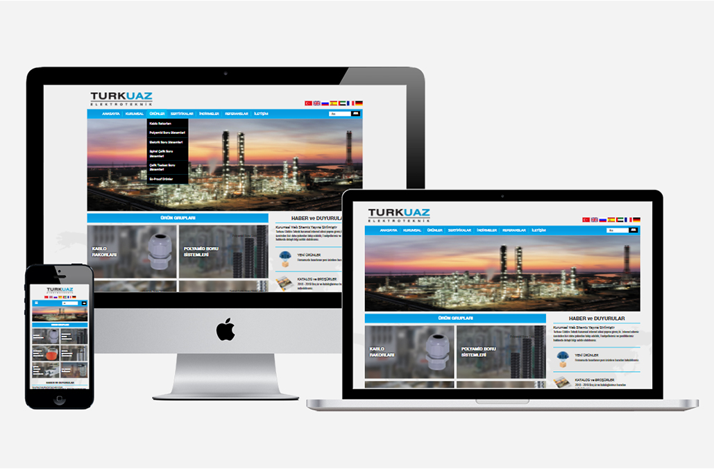 Turkuaz Elektro Teknik Kurumsal Web Sitesi