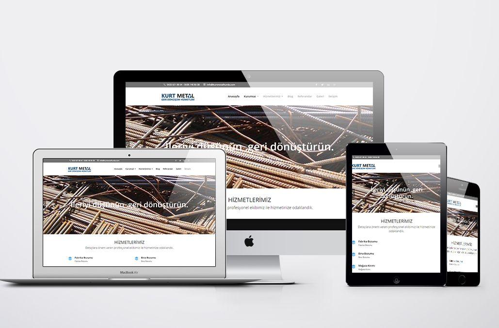 Kurt Metal Geri Dönüşüm Web Tasarımı