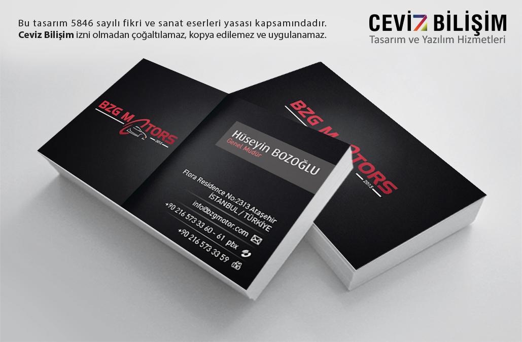BZG Motors Kartvizit Tasarımı