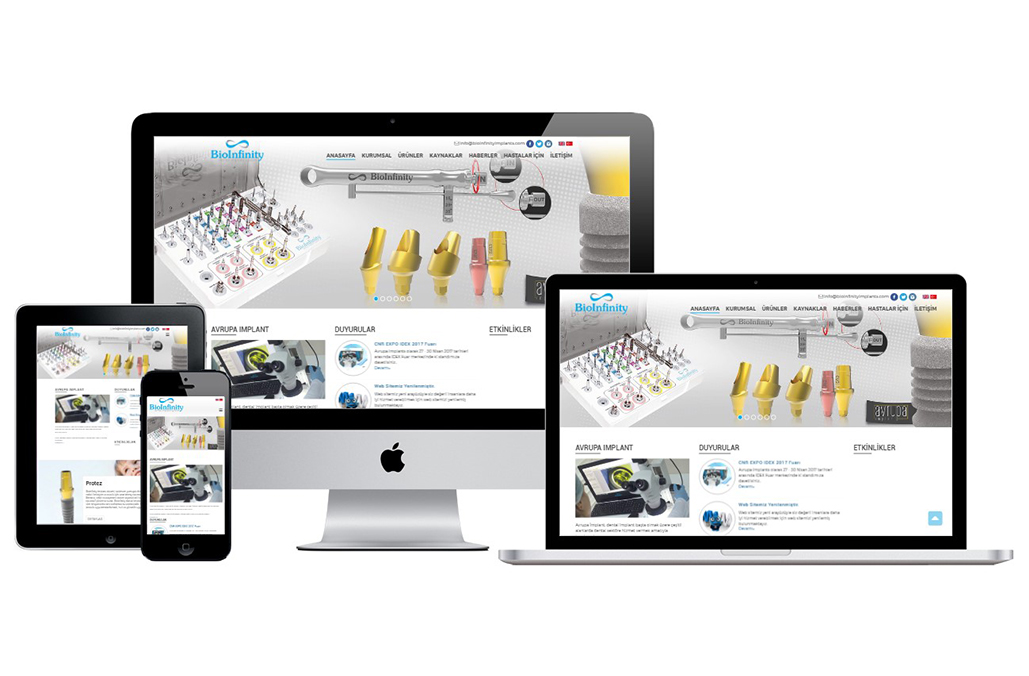 BioInfinity Dental İmplant System Kurumsal Web Sitesi