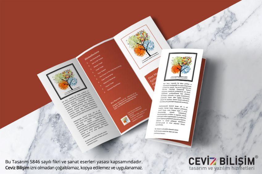 Dört Mevsim Danışmanlık Broşür Tasarımı