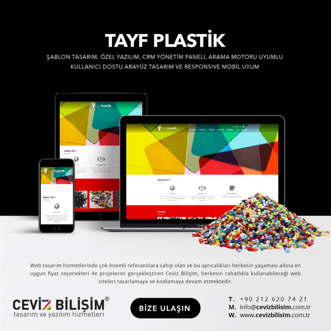 Tayf Plastik Boya İnternet Sitesi Tasarımı