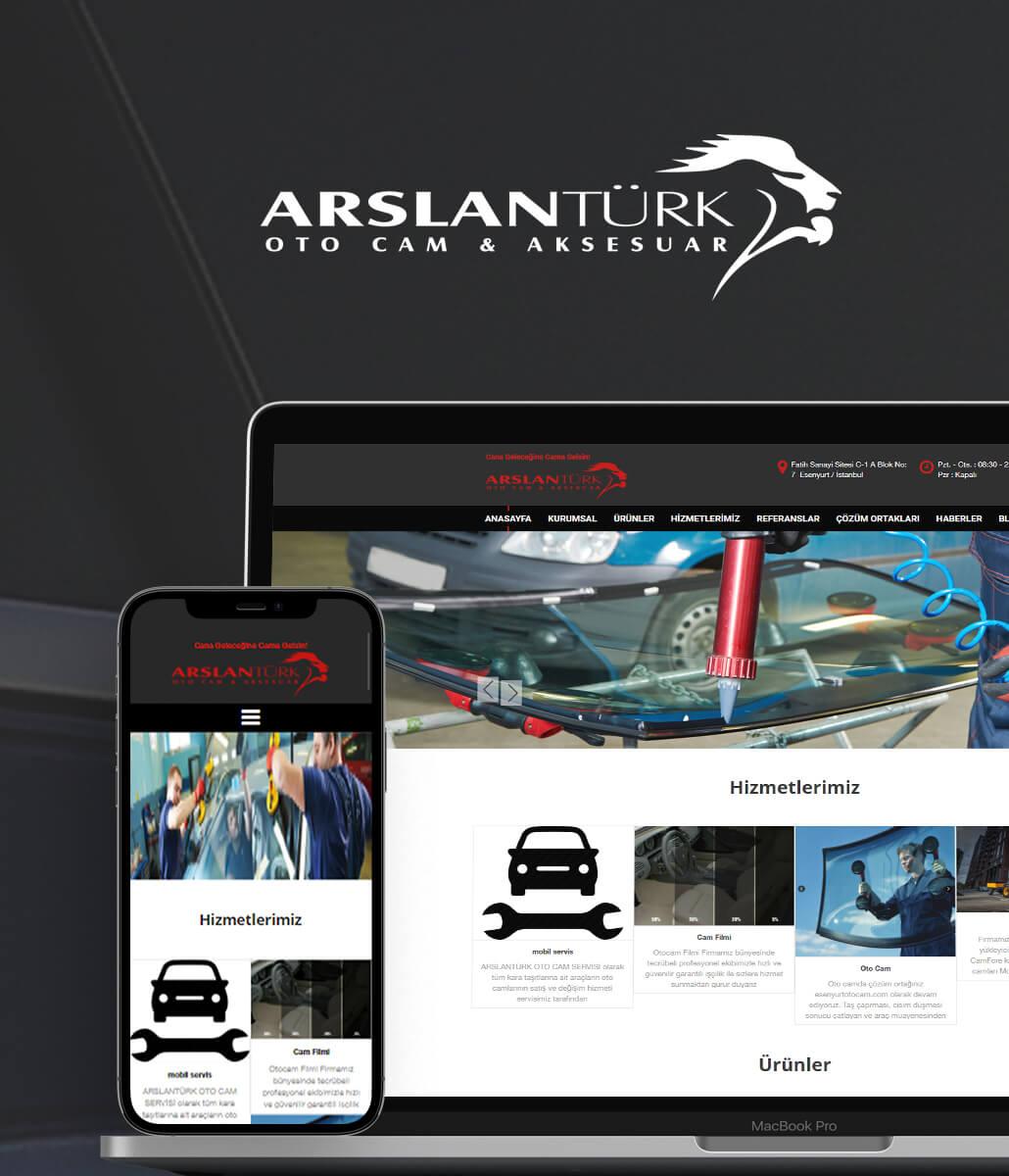 ARSLANTURK OTOCAM Web Tasarımı