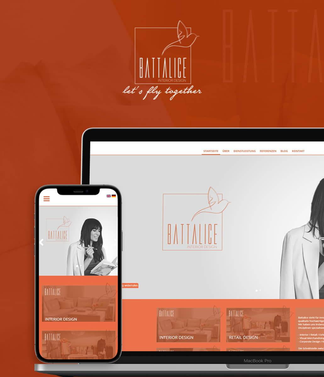 Battalice Interior Design Web Tasarımı
