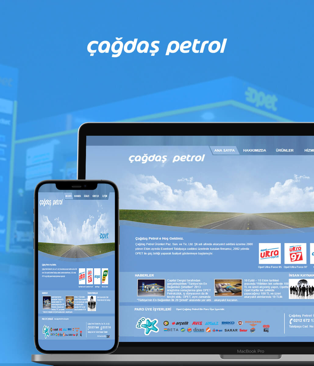 Çağdaş Petrol Web Tasarım