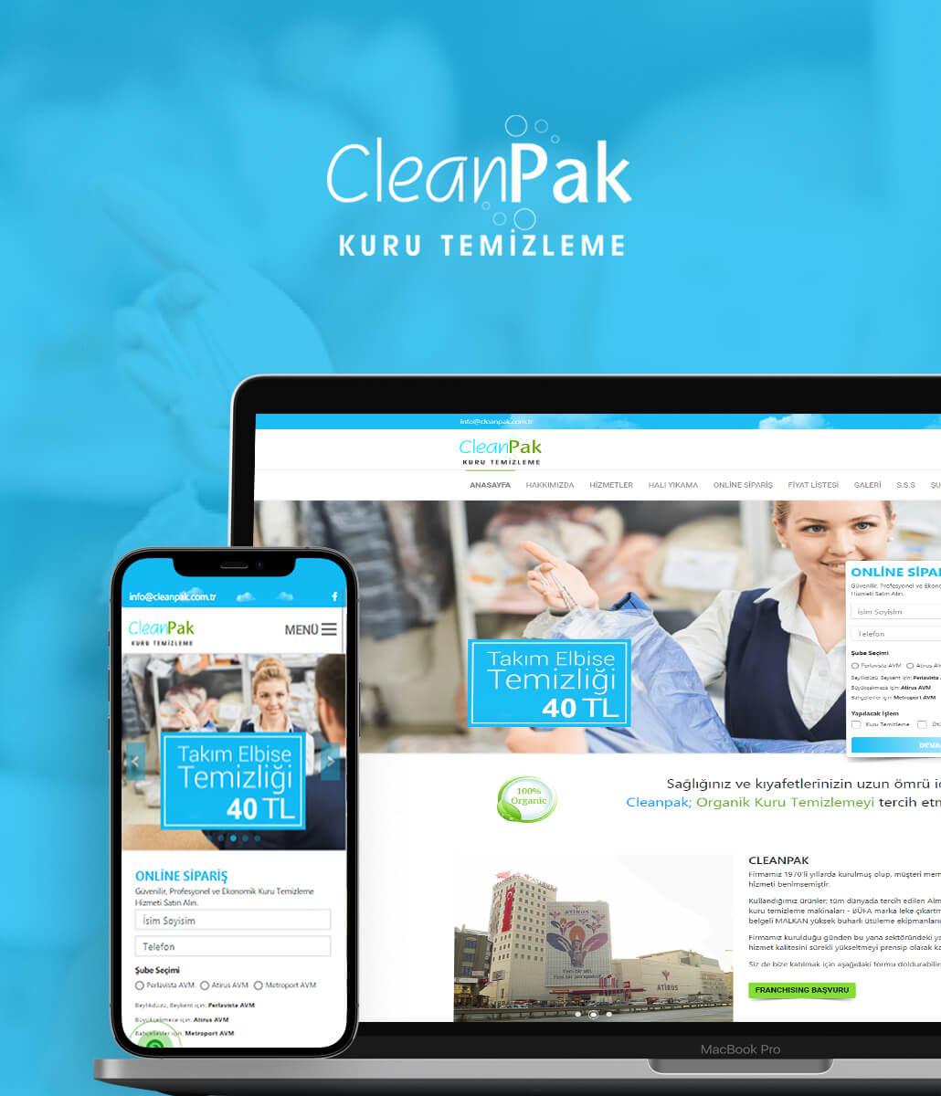 CleanPak Kurumsal Web Sitesi