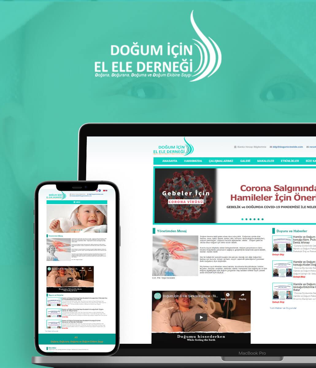 Doğum İçin Elele Derneği Web Tasarımı