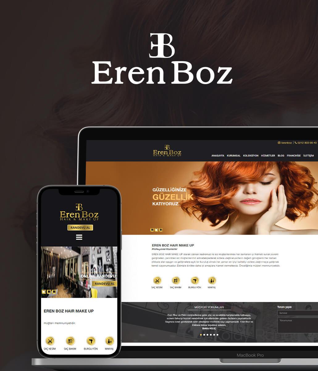 Eren BOZ Kurumsal Web Tasarımı