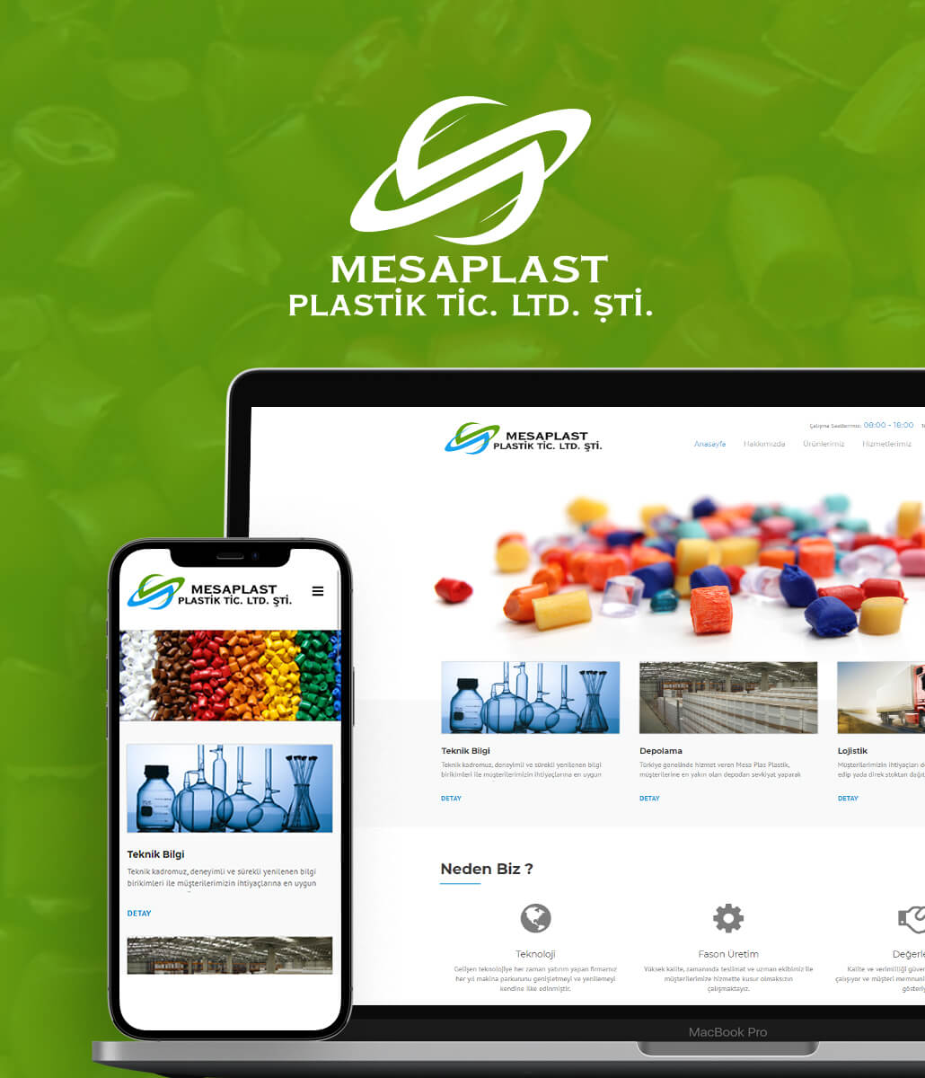 MesaPlast Plastik Tic. Ltd. Şti. Kurumsal Web Sitesi