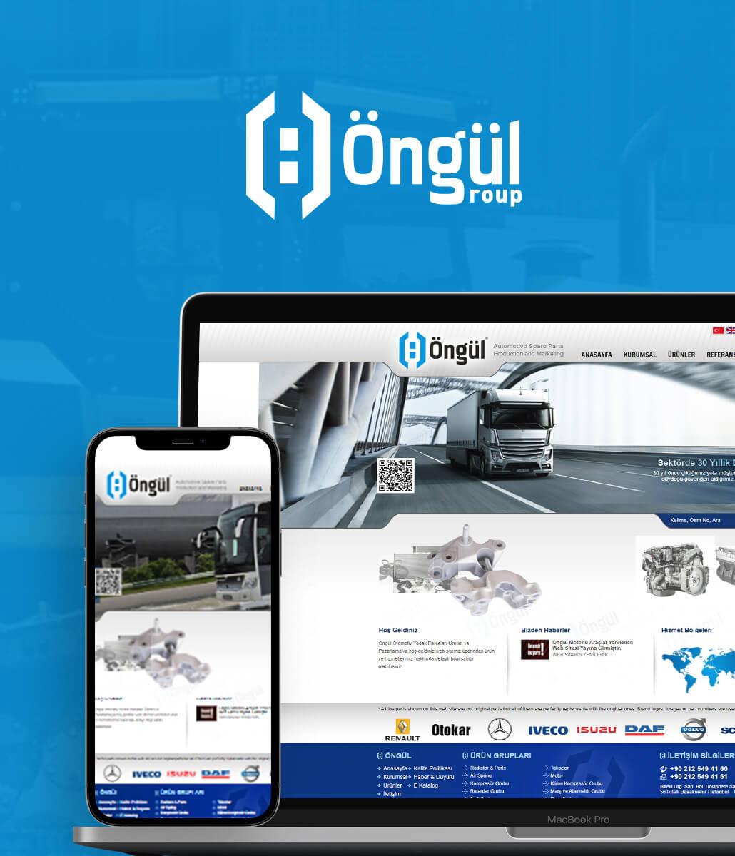 Öngül Otomotiv Web Tasarımı