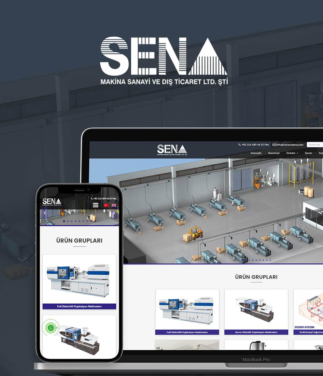 Sena Makina Web Tasarımı