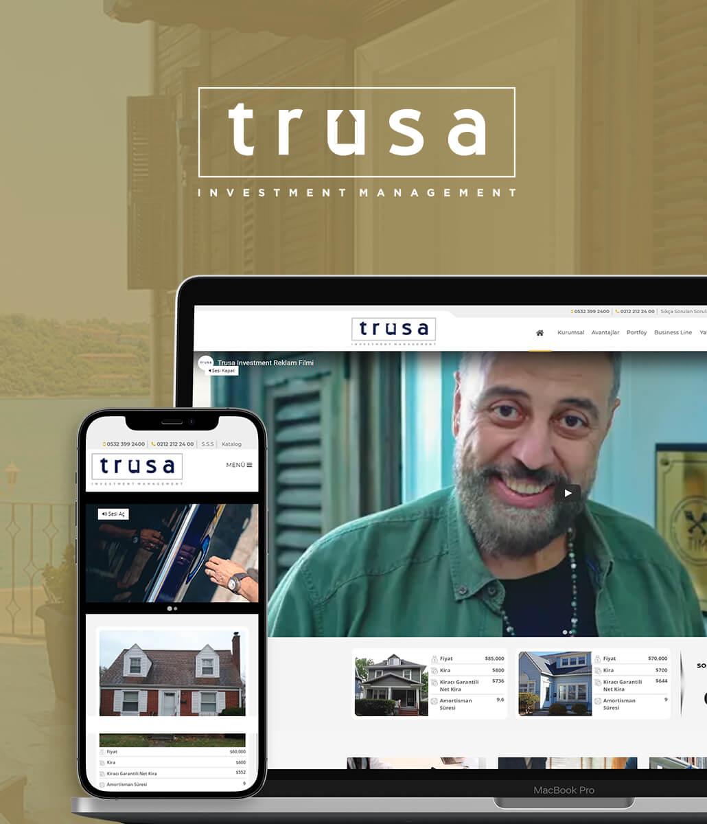 Trusa Investment Web Tasarımı