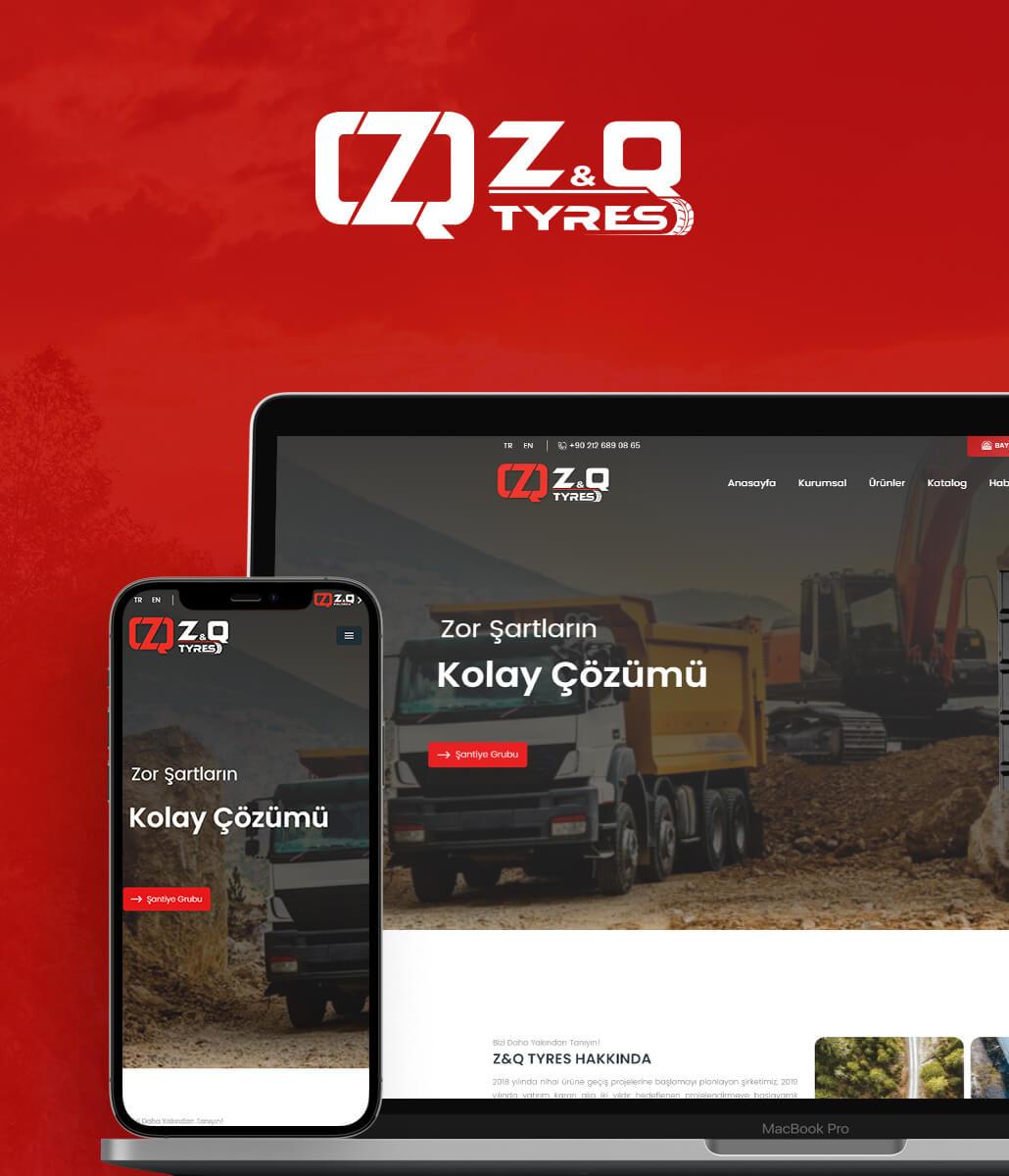 Z&Q Tyres Web Tasarım