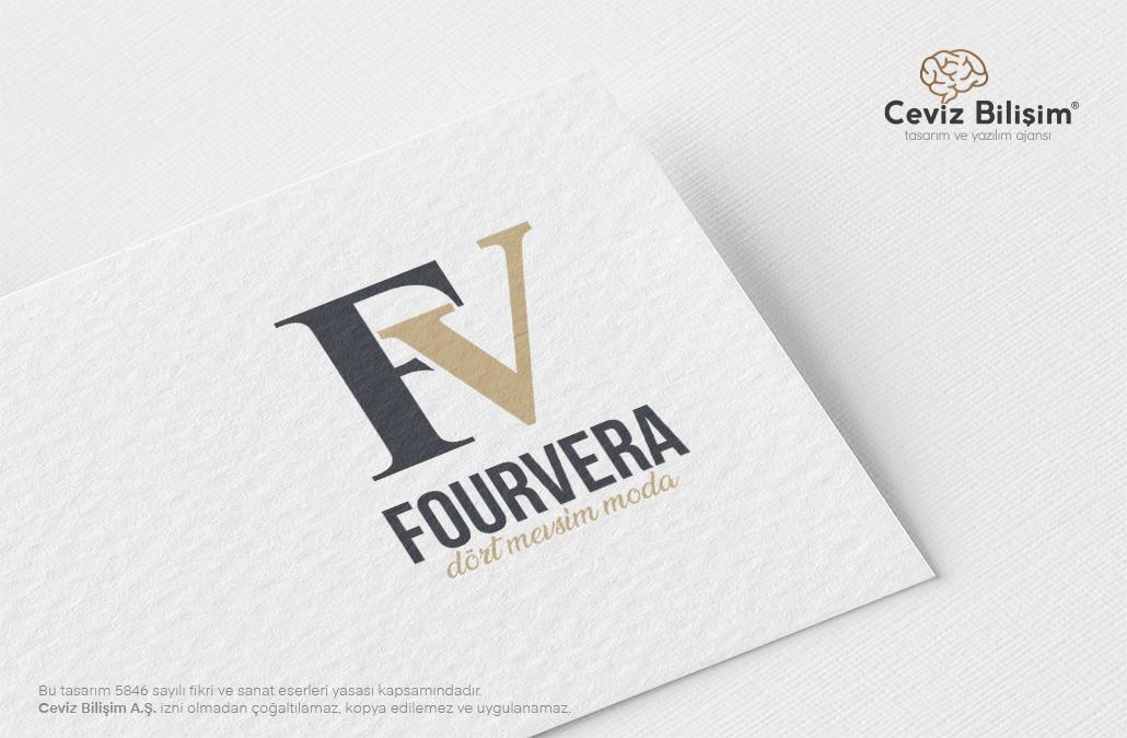 Fourvera Logo Tasarımı ve Kurumsal Kimlik Çalışmaları