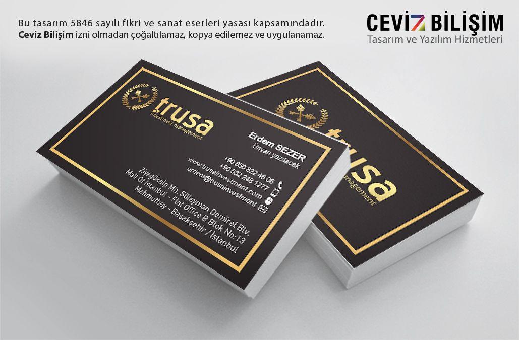 TRUSA Investment Kartvizit Tasarımı