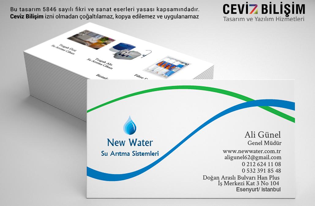 New Water Kartvizit Tasarımı