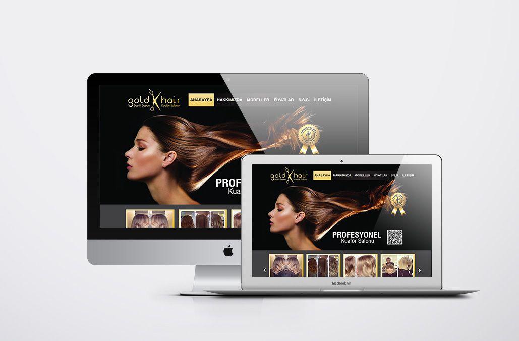 Gold Hair Web Tasarımı