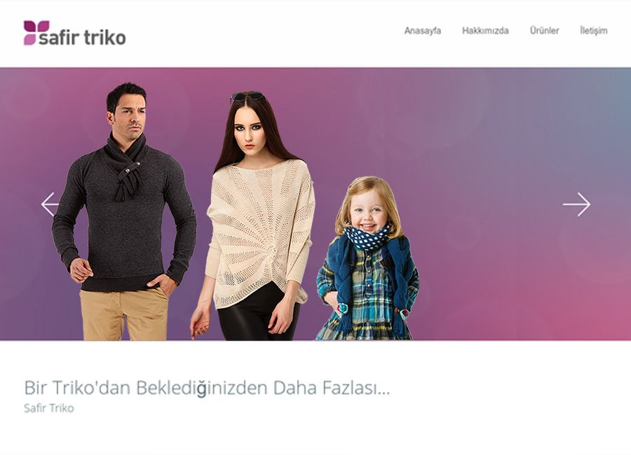 Safir Triko Web Yazılımı