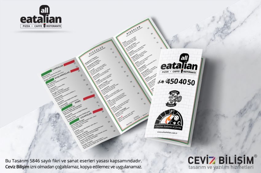 All Eatalian Broşür Tasarımı