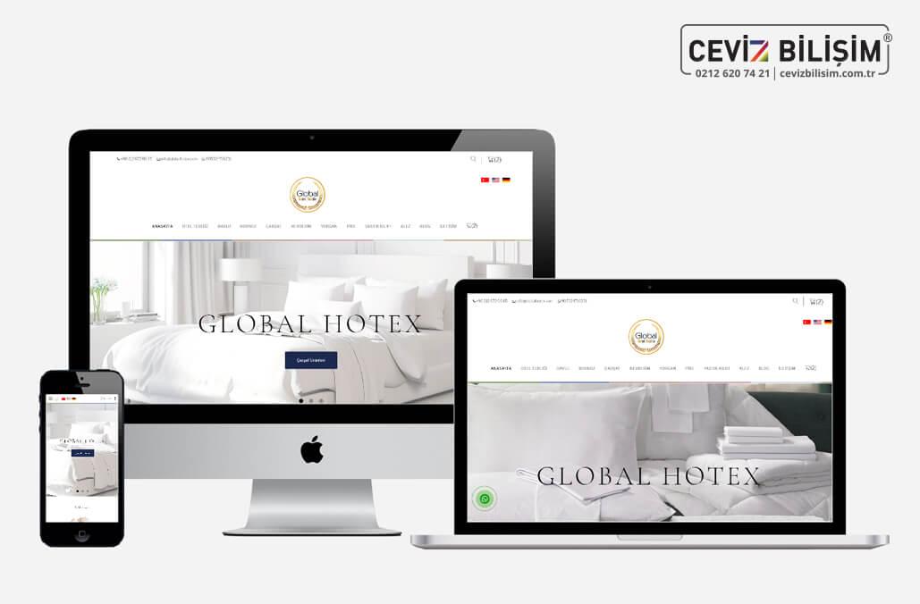 Global Hotex Kurumsal Web Sitesi Yazılımı