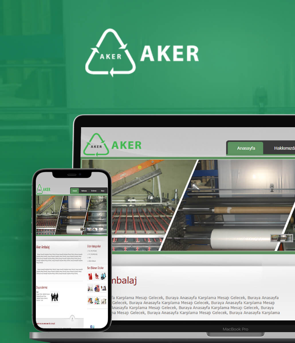 Aker Ambalaj Web Tasarım