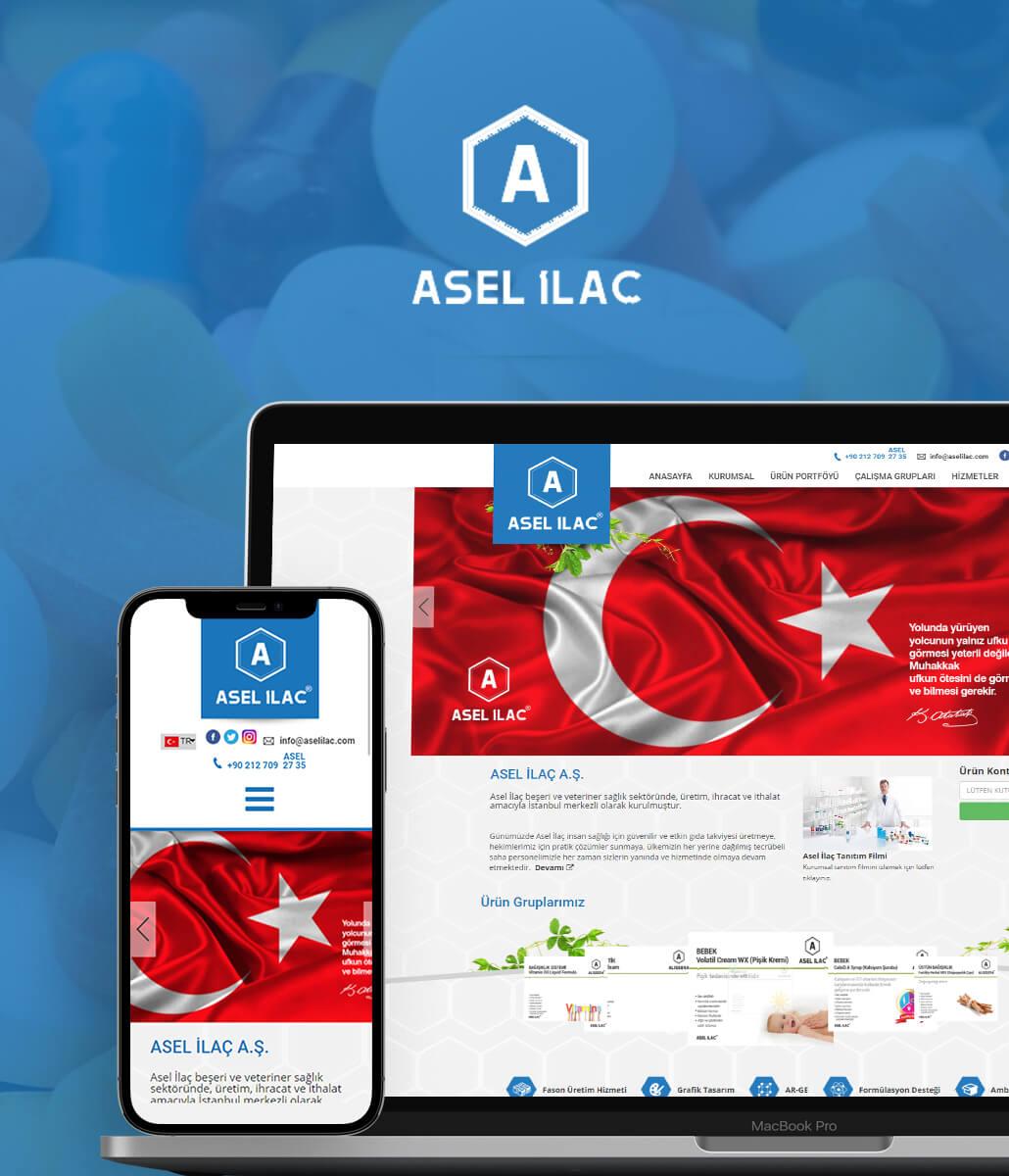 ASEL İlaç Kurumsal Web Sitesi
