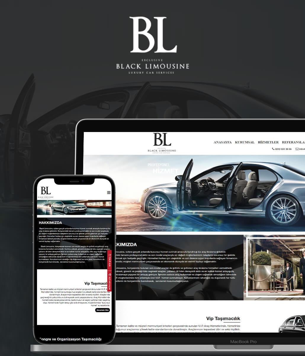 BLACK LIMOUSINE Web Tasarımı