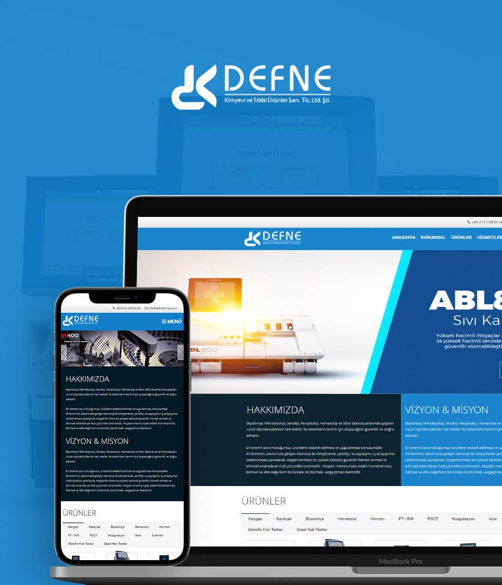Defne Kimya Kurumsal Web Sitesi