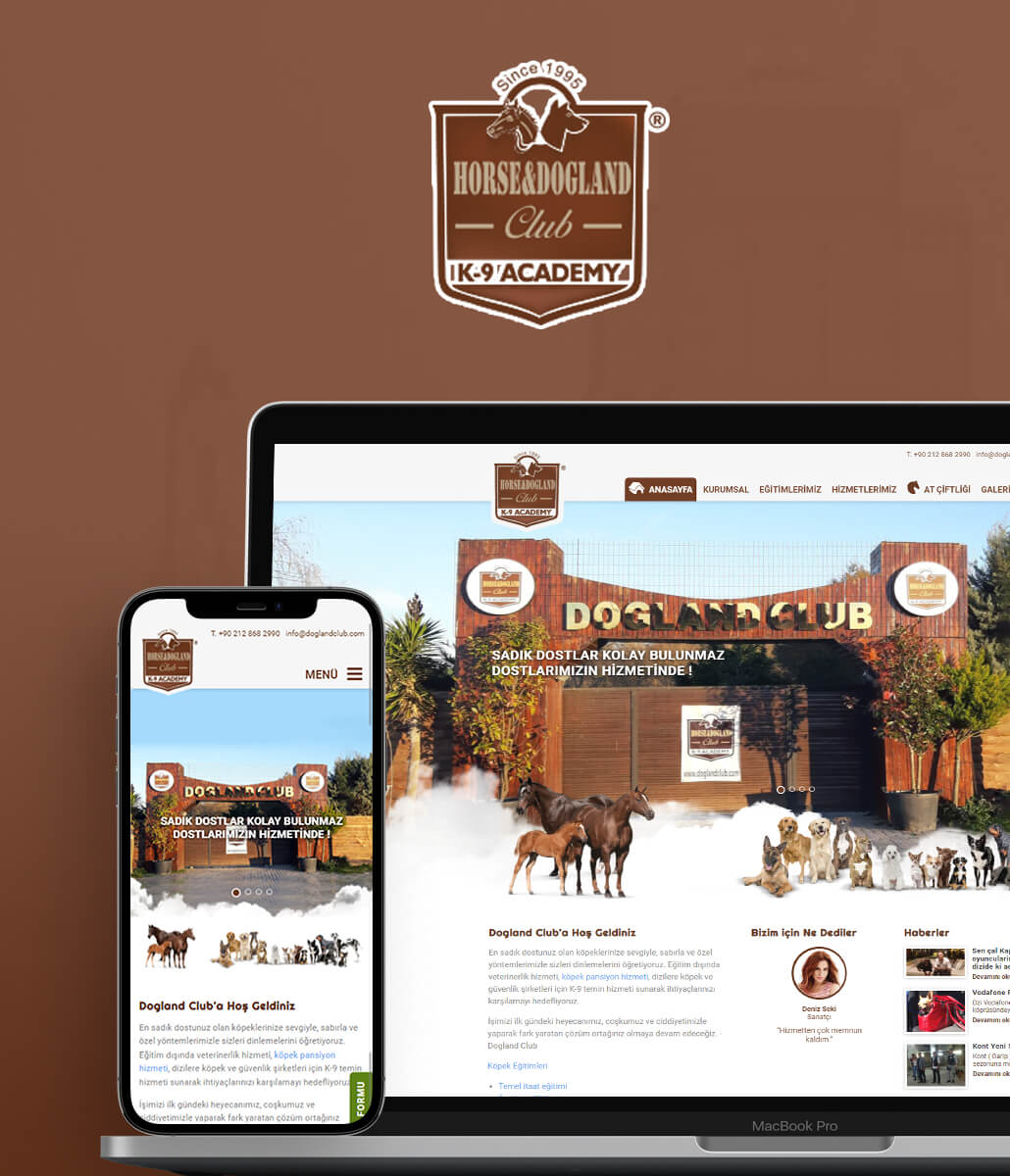 Horse & Dogland Club İnternet Sitesi