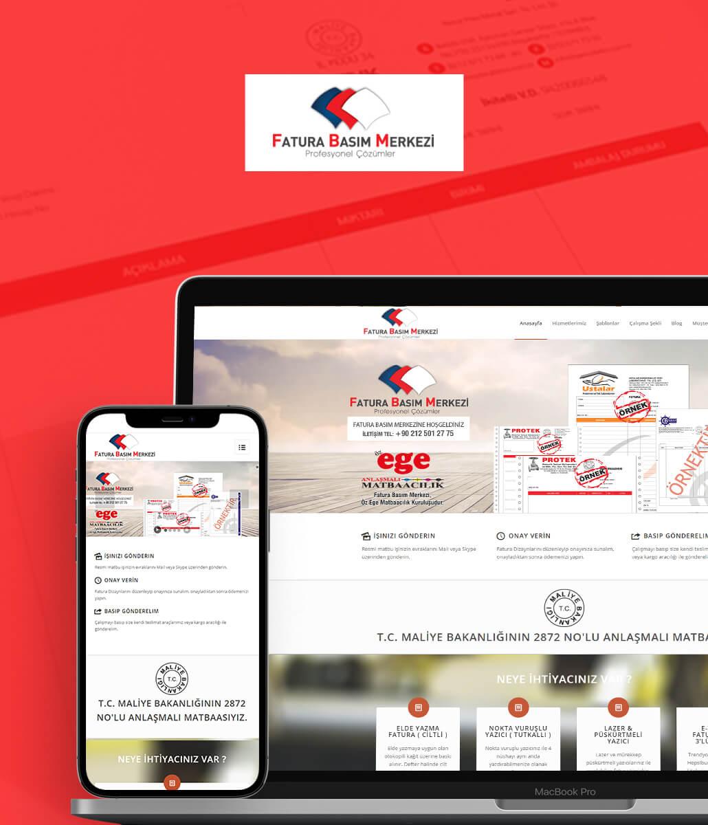 Fatura Basım Merkezi Web tasarım