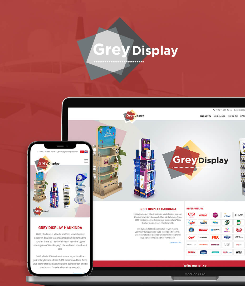 Grey Display Kurumsal Web Sitesi