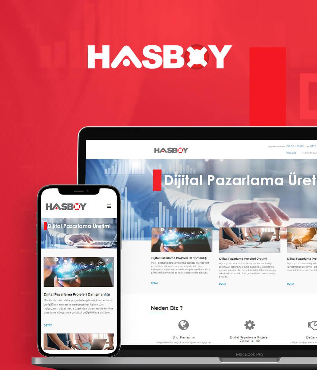 Hasboy Ltd. Şti. Kurumsal Web Sitesi