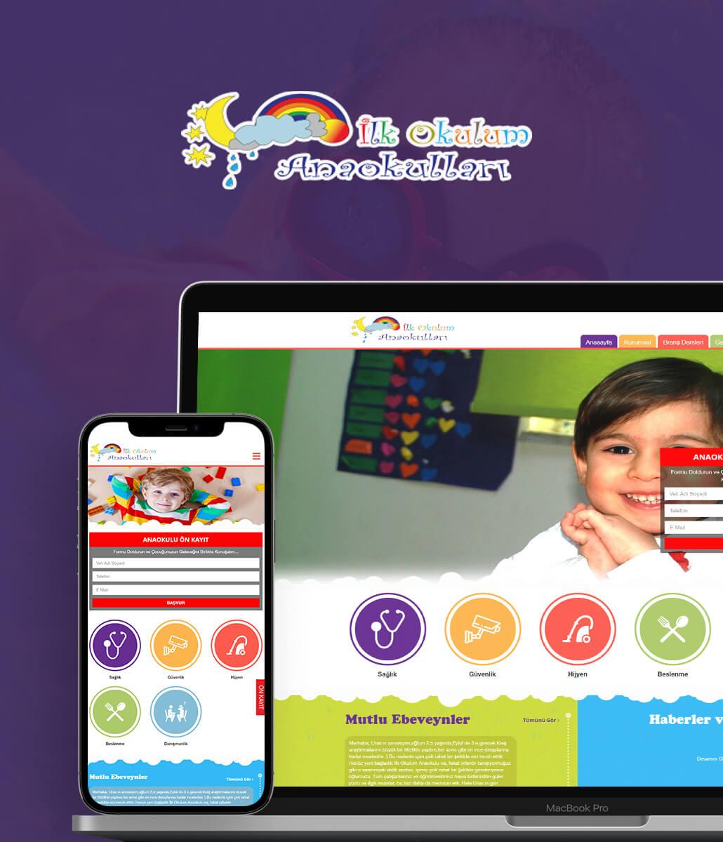 İlk Okulum Anaokulu Web Tasarımı