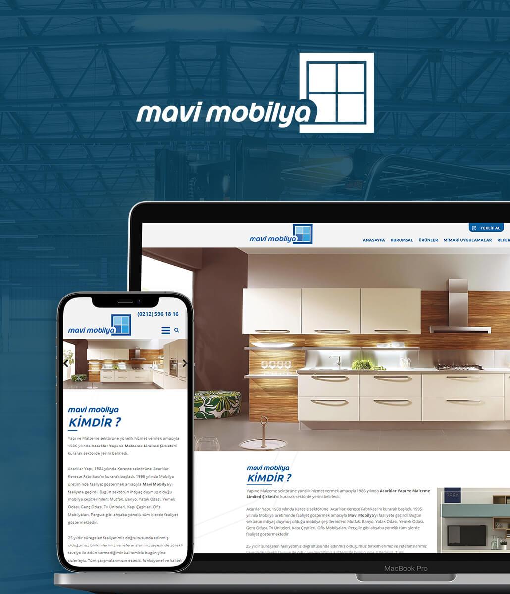 Mavi Mobilya Web Tasarım