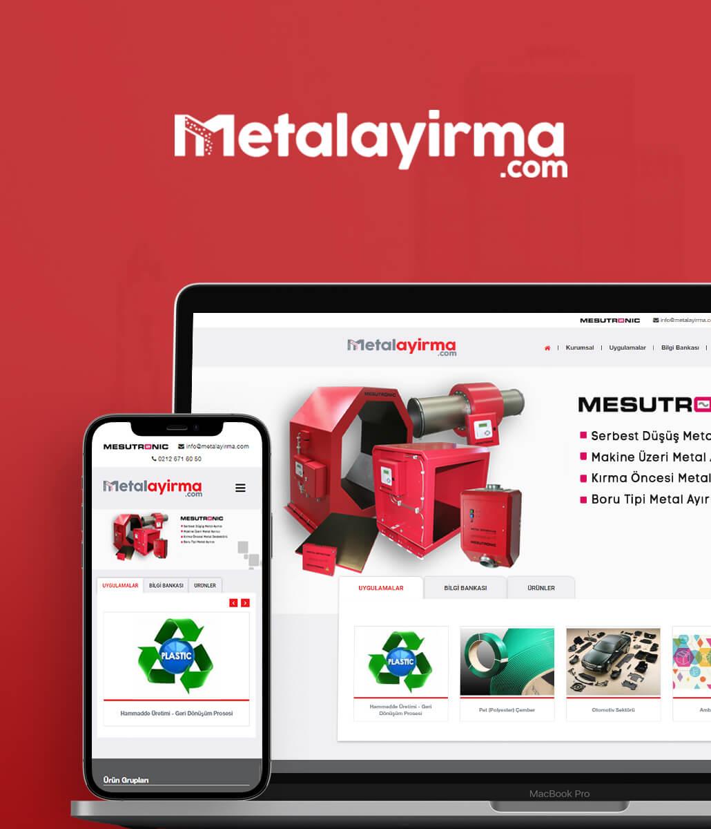 Metal Ayırma Web Tasarım