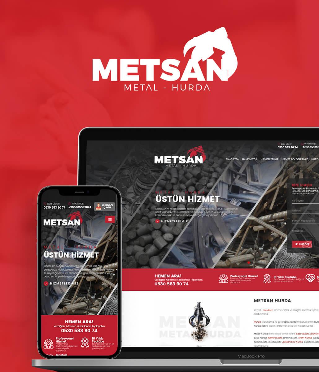 Metsan Metal Hurda Web Tasarım