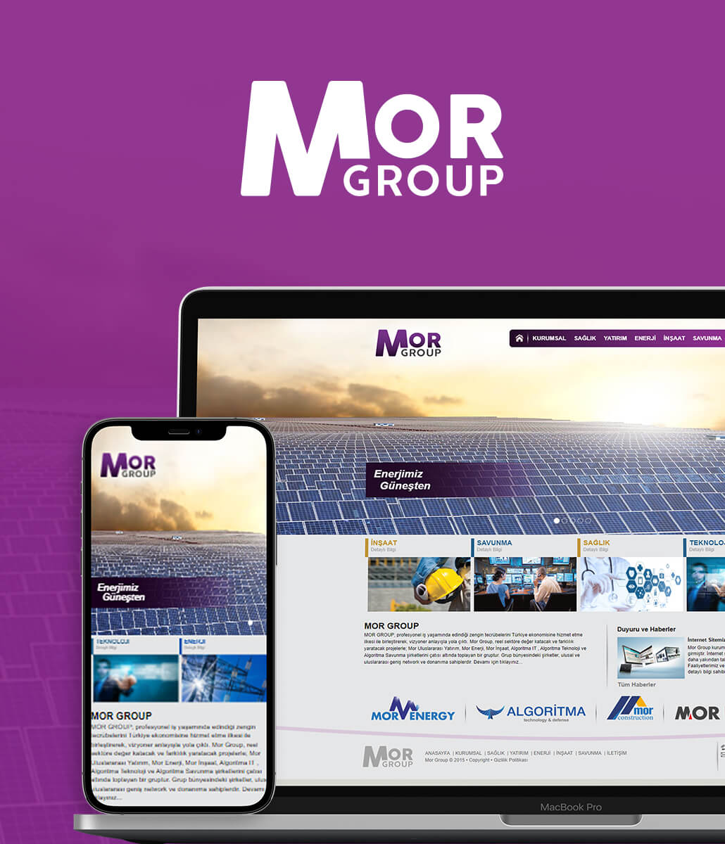 Mor Group Kurumsal Web Tasarımı