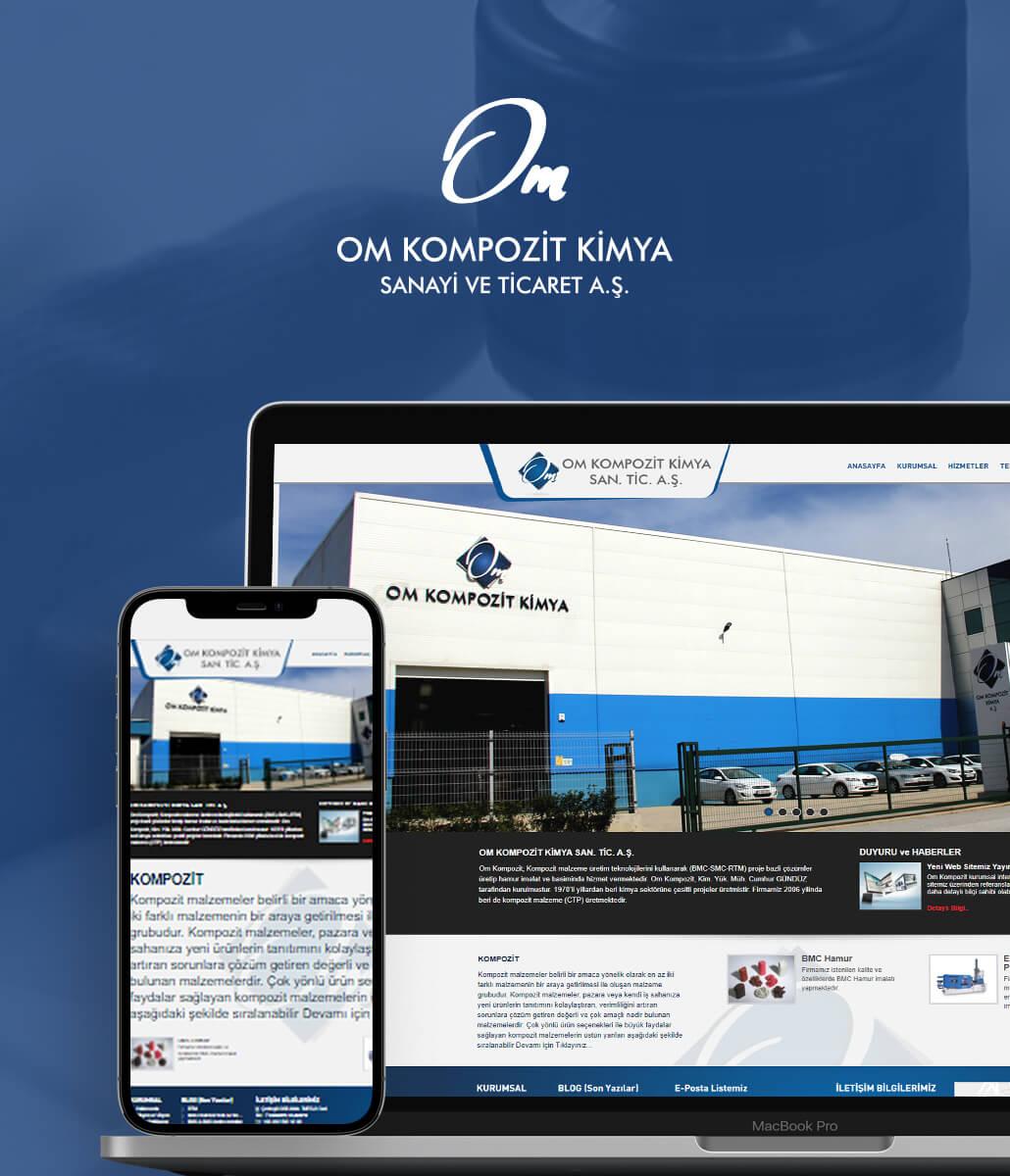 OM Kimya Web Tasarımı
