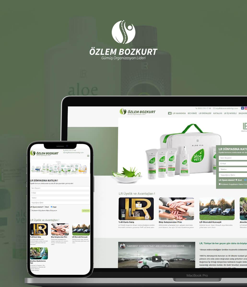 Aloevera Özlem Bozkurt Kurumsal Web Tasarımı