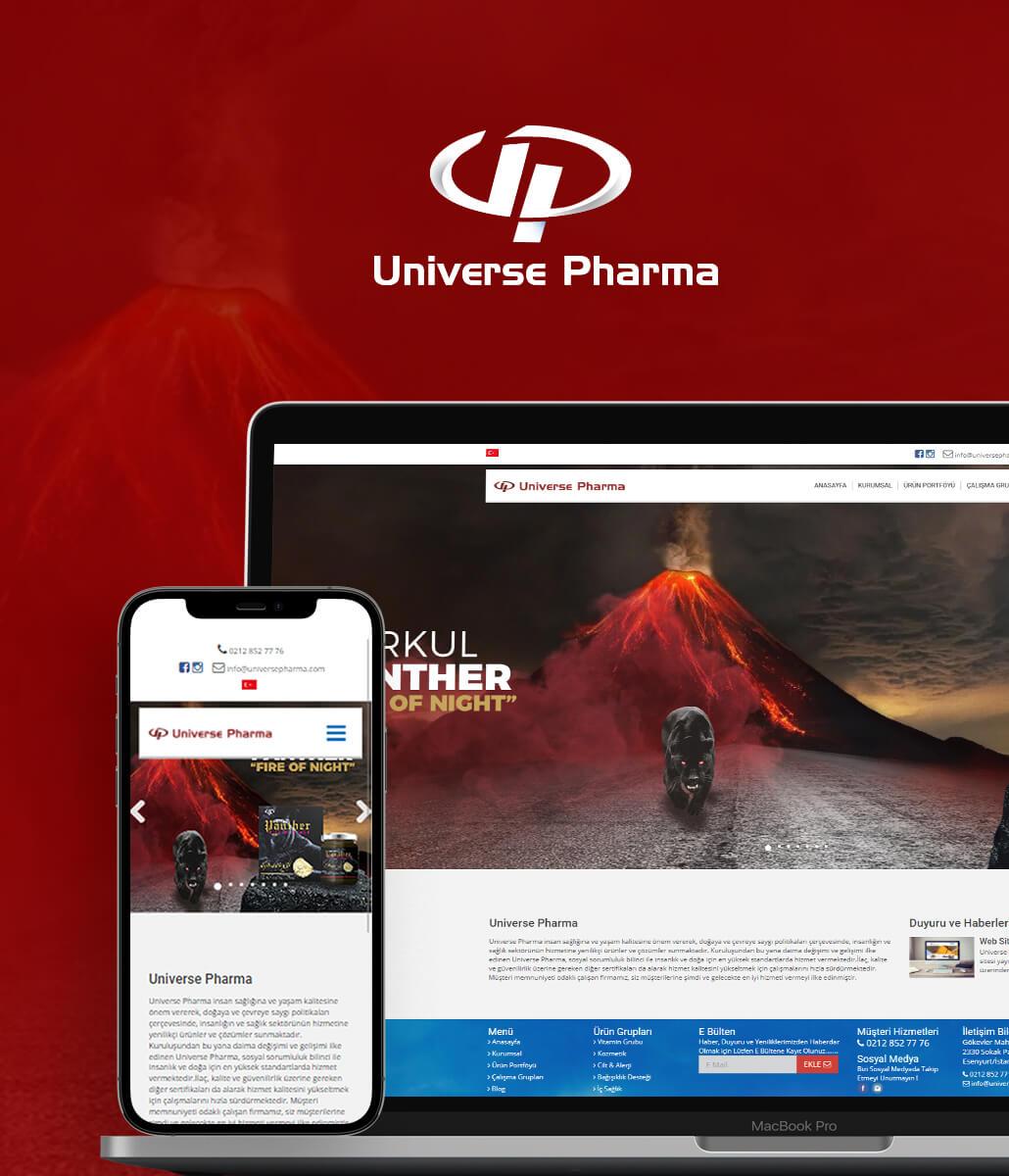 Universe Pharma Web Tasarım