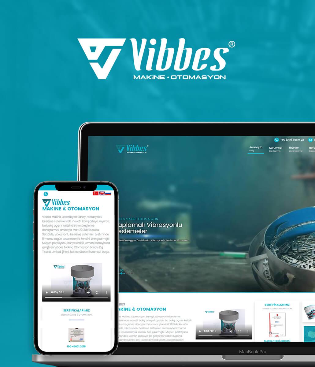 Vibbes Makina Kurumsal Web Tasarım
