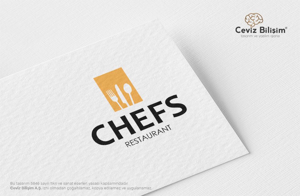 Chefs Restaurant Logo Tasarımı